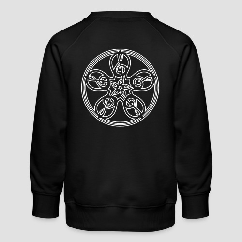 Treble Clef Mandala (white outline) - Kids' Premium Sweatshirt