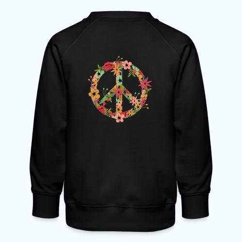 Peace Hippie Flower Power - Kids' Premium Sweatshirt