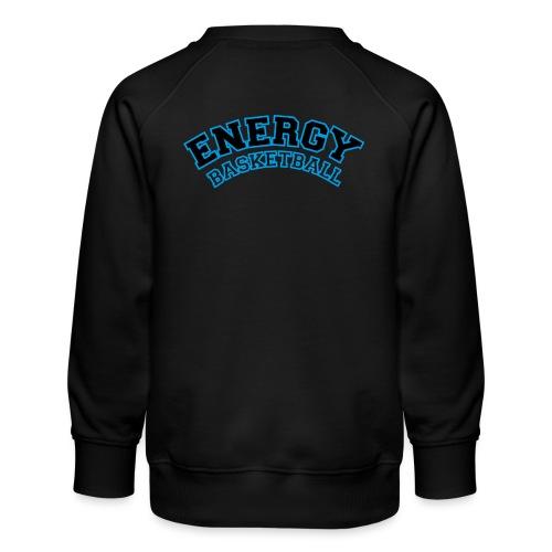 baby energy basketball logo nero - Felpa premium da bambini