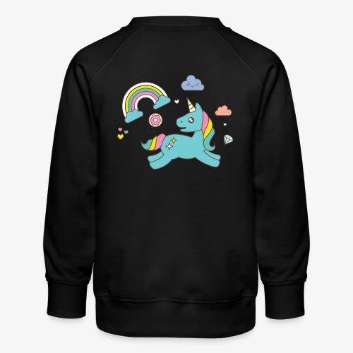 colored unicorn - Kids' Premium Sweatshirt
