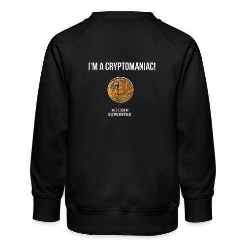 I'm a cryptomaniac - Felpa premium da bambini