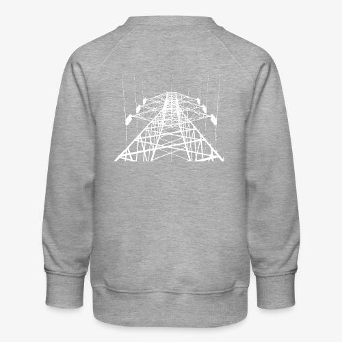Strommast weiß - Kinder Premium Pullover
