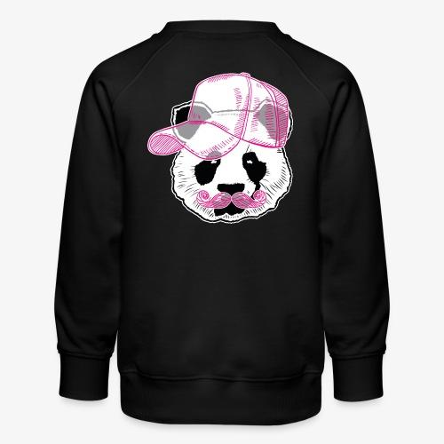 Panda - Pink - Cap - Mustache - Kinder Premium Pullover