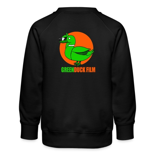 Greenduck Film Orange Sun Logo - Børne premium sweatshirt