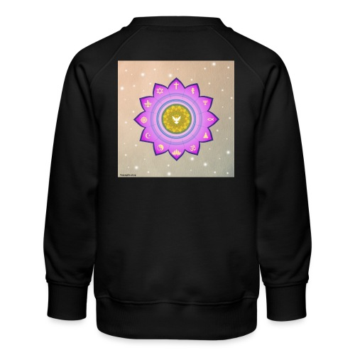 0 1 Dove Surrounded by Religious Symbols. - Kids' Premium Sweatshirt