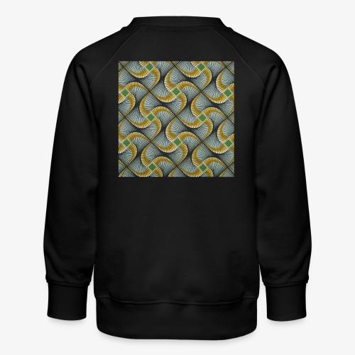 Design motif jaune vert gris - Sweat ras-du-cou Premium Enfant