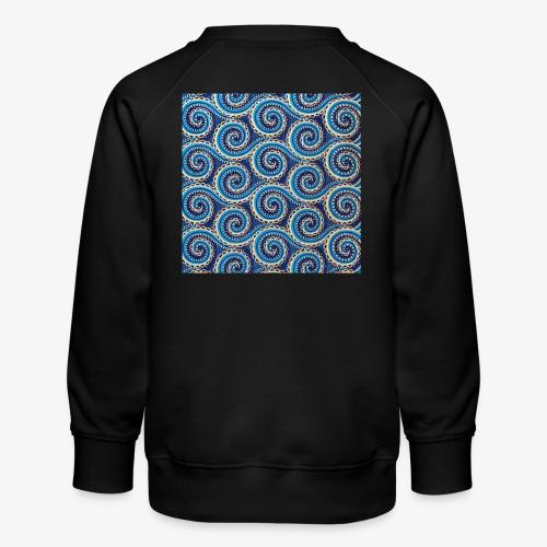 Spirales au motif bleu - Sweat ras-du-cou Premium Enfant