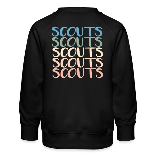 SCOUTS Typo Pastell Farbmix - Kinder Premium Pullover