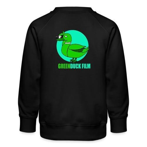 Greenduck Film Turkis blue sun Logo - Børne premium sweatshirt