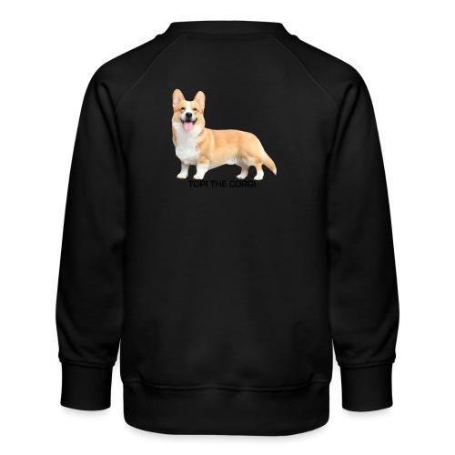 Topi the Corgi - Black text - Kids' Premium Sweatshirt