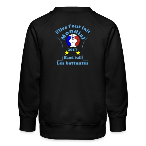 t shirt handball mondial 2017 battantes bleu - Sweat ras-du-cou Premium Enfant