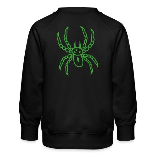 Spinne grün - Kinder Premium Pullover