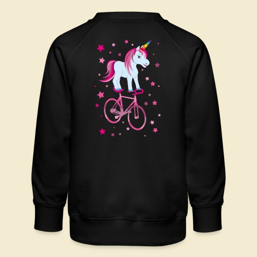 Kunstrad | Einhorn Pink - Kinder Premium Pullover