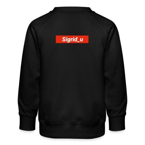 Sigrid_uBoxLogo - Premium-genser for barn