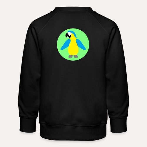 Yellow-breasted Macaw - Kids' Premium Sweatshirt