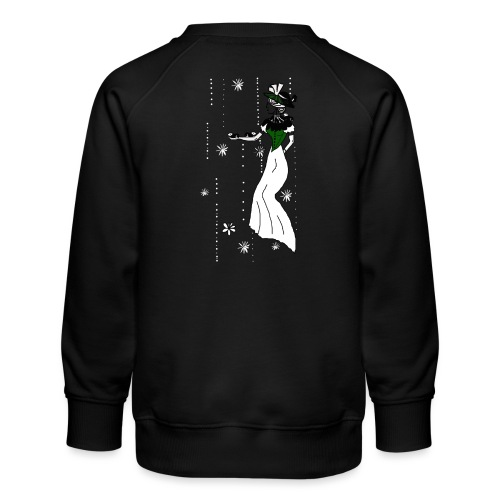 Cute Guinea Pigs with Lady and Flowers - Børne premium sweatshirt