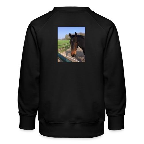 Met bruin paard bedrukt - Kinderen premium sweater