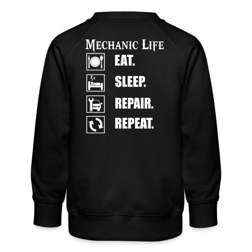 Das Leben als Mechaniker ist hart! Witziges Design - Kinder Premium Pullover