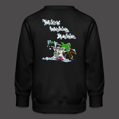 Wicked Washing Machine Cartoon and Logo - Kinderen premium sweater