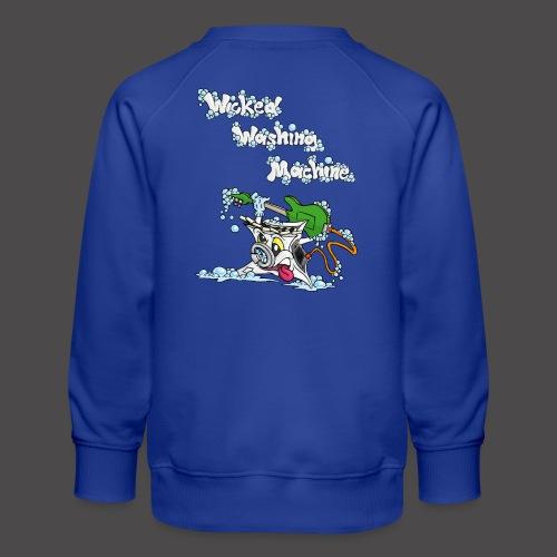Wicked Washing Machine Cartoon and Logo - Kinderen premium sweater