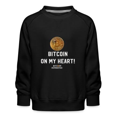 Bitcoin on my heart! - Felpa premium da bambini