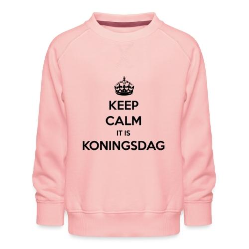 KEEP CALM IT IS KONINGSDAG - Kinderen premium sweater