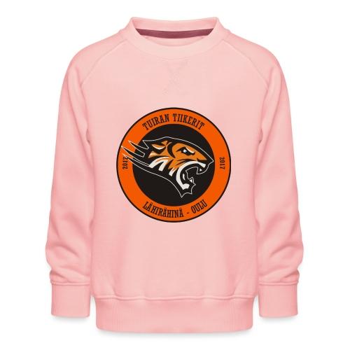 Tuiran Tiikerit, värikäs logo - Lasten premium-collegepaita