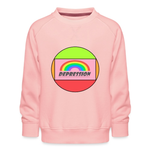 Depressed design - Kids' Premium Sweatshirt