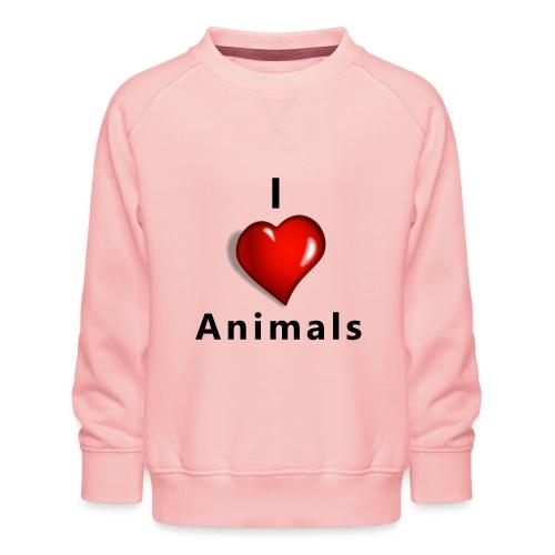 i love animals - Kinderen premium sweater