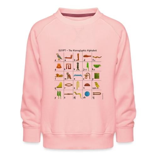 Ägyptisches Alphabet - Kinder Premium Pullover