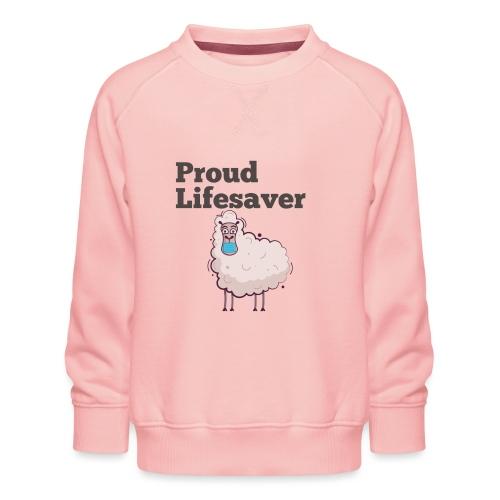 Schlafschafe retten Leben mit Mundschutz - Kinder Premium Pullover
