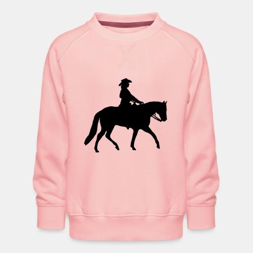 Ranch Riding Silhouette Westernreiterin - Kinder Premium Pullover