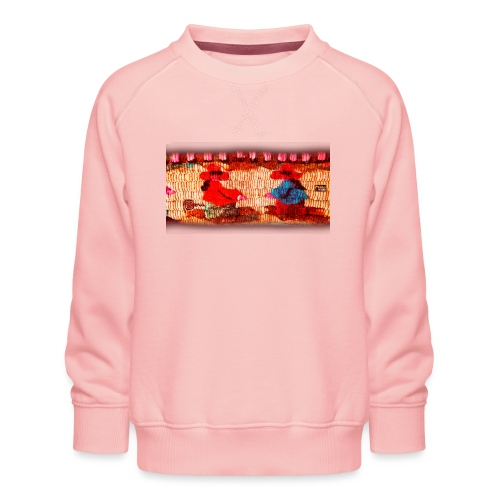 Dos Paisanitas tejiendo telar inca - Kinder Premium Pullover