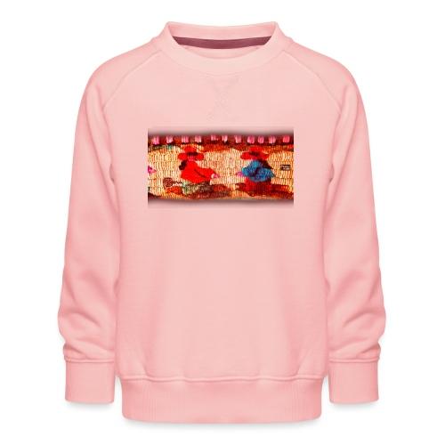 Dos Paisanitas tejiendo telar inca - Sudadera premium para niños y niñas
