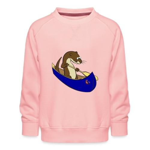 bluecanoewithsticker - Kids' Premium Sweatshirt