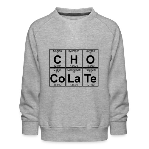 C-H-O-Co-La-Te (chocolate) - Full - Kids' Premium Sweatshirt