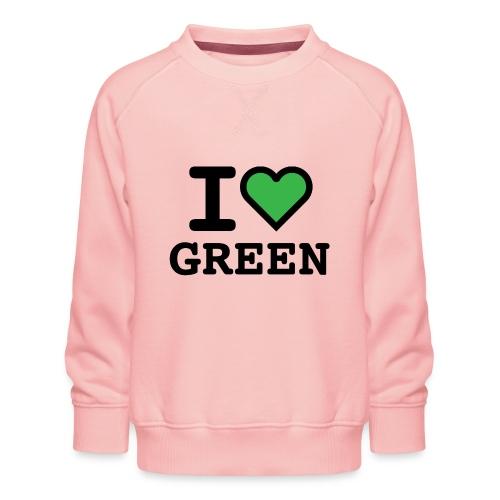 i-love-green-2.png - Felpa premium da bambini