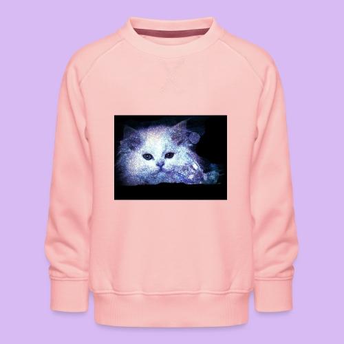 Gatto bianco glitter - Felpa premium da bambini
