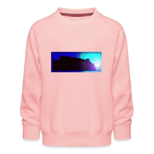 Silhouette of Edinburgh Castle - Kids' Premium Sweatshirt