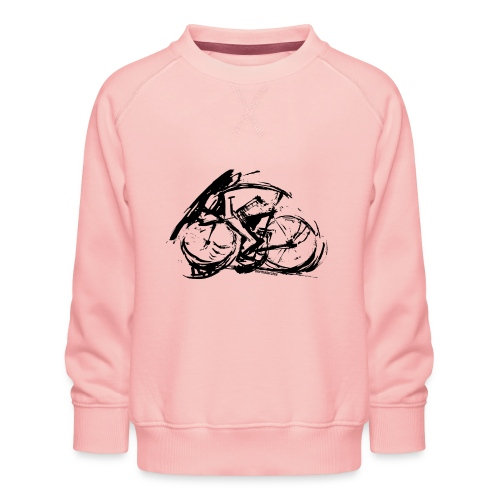 futuristischer radfahrer - Kinder Premium Pullover
