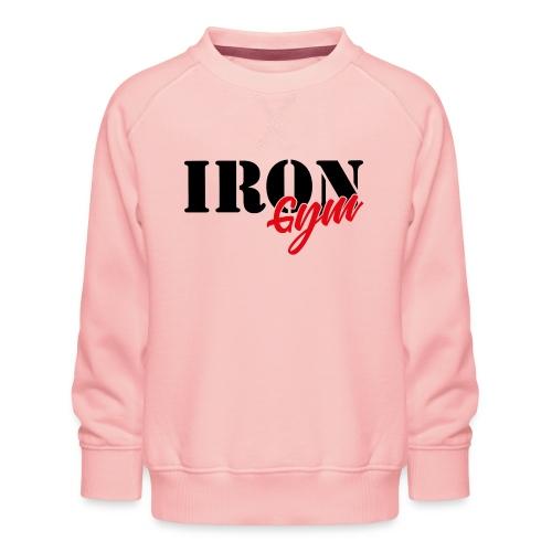 iron gym logo black - Sudadera premium para niños y niñas
