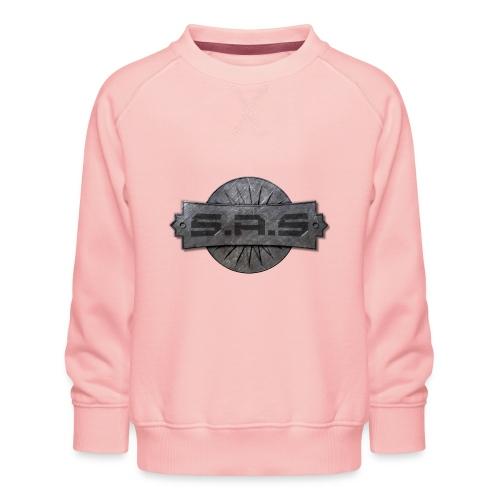 metal background scratches surface 18408 3840x2400 - Kinderen premium sweater