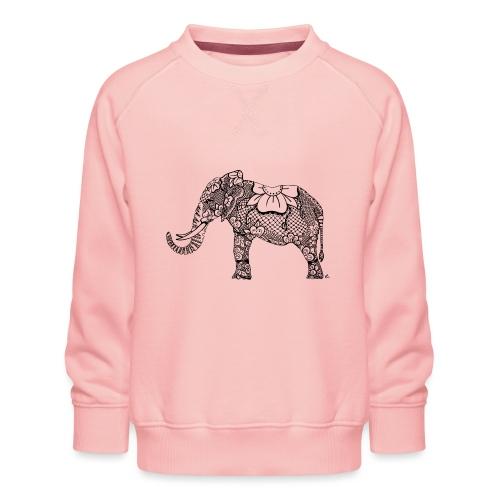 Éléphant oriental - Sweat ras-du-cou Premium Enfant