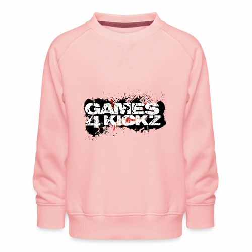 Games4Kickz Logo Splattered Background - Kids' Premium Sweatshirt