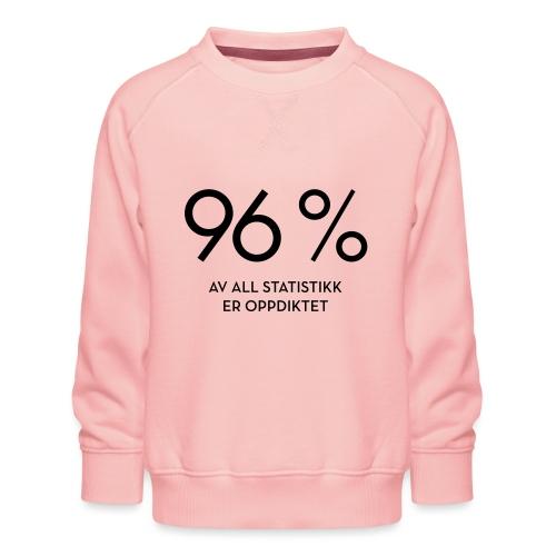 Statistikk-sprøyt (fra Det norske plagg) - Premium-genser for barn