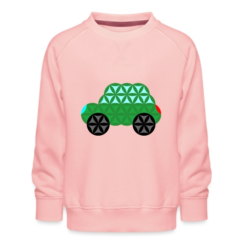 The Car Of Life - M02, Sacred Shapes, Green/363 - Kids' Premium Sweatshirt