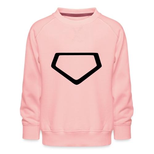 Baseball Homeplate Outline - Kids' Premium Sweatshirt