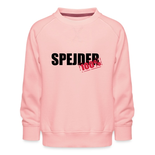 100procent spejder stempel - Børne premium sweatshirt