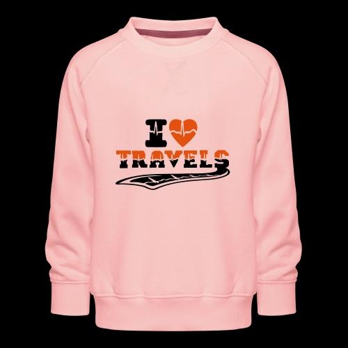 i love travels surprises 2 col - Kids' Premium Sweatshirt