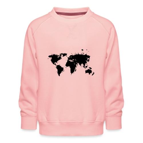 Weltkarte Splash - Kinder Premium Pullover